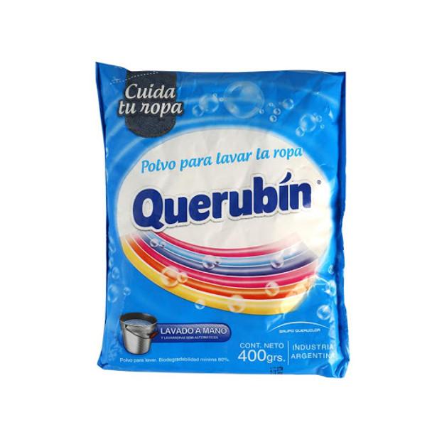 Querubin Soap Laundry Powder for Hand-Washing and Semi-Automatic Washing Machine, 400 g / 14.1 oz bag