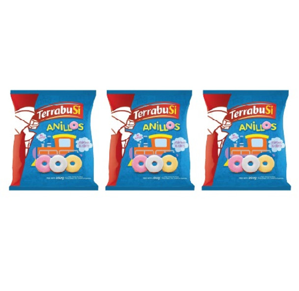 Anillos Terrabusi Galletitas Sweet Ring Cookies, 160 g / 5.6 oz (pack of 3)