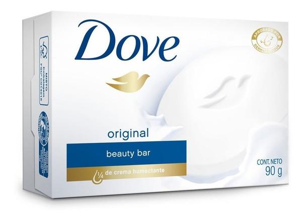 Dove Jabón Soap Bar With Moisturizer Cream, 90 g / 3.17 oz