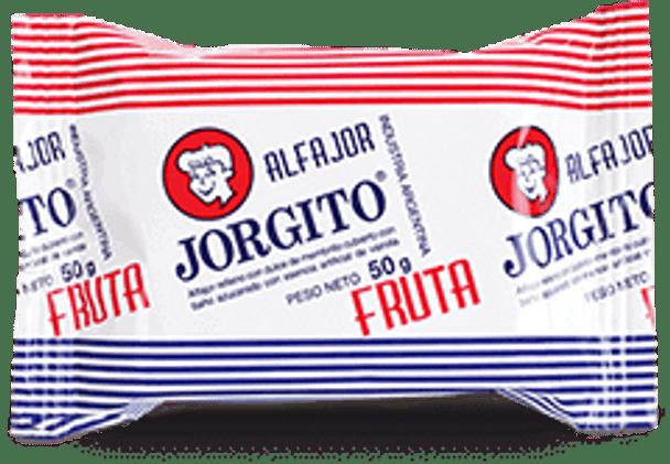 Alfajor Jorgito Quince Jelly Membrillo w/ Sugar Coating Wholesale Bulk Box, 55 g / 1.94 oz ea (24 count per box)