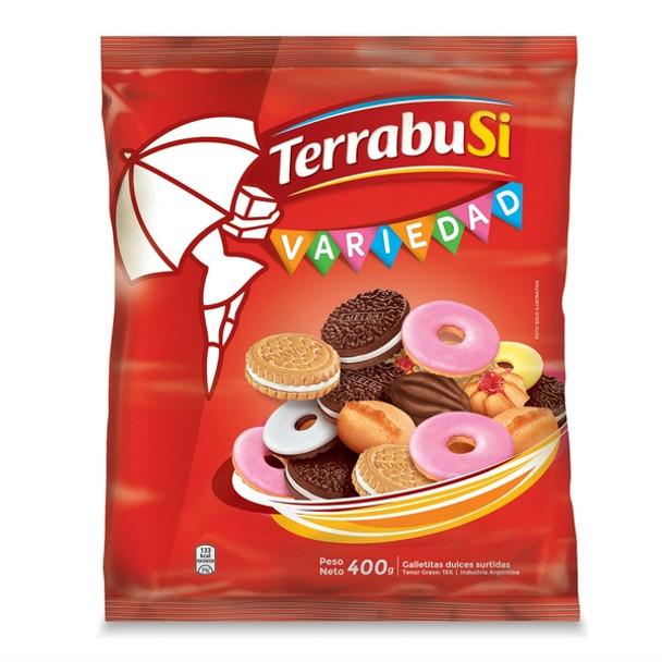 Galletitas Terrabusi Variedad Assorted Cookies Boca de Dama, Duquesa, Anillos & Melba, 400 g / 14.1 oz bag