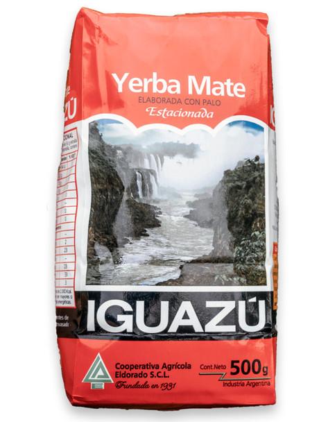 Iguazú Yerba Mate con Palo by Cooperativa Eldorado Misiones, 500 g / 1.1 lb