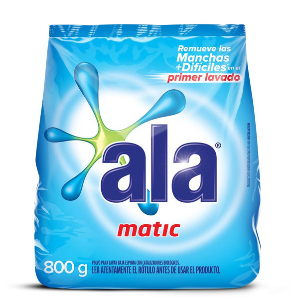 Ala Jabón En Polvo Matic Soap Laundry Powder for Automatic Washing Machine, 800 g / 28.2 oz