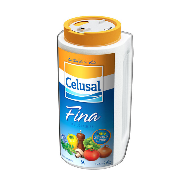 Celusal Sal Fina Salero De Mesa Salt Bottle, 250 g / 8.8 oz