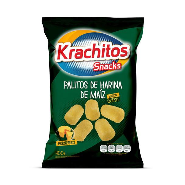 Krachitos Chizitos Snack Corn Wider Sticks Cheese Flavor Party Super Bag, 400 g / 14.1 oz bag