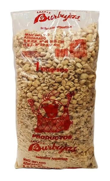 Tutucas Maíz Inflado Azucarado Sugary Puffed Corn Super Party Bag, 1 kg / 2.2 lb