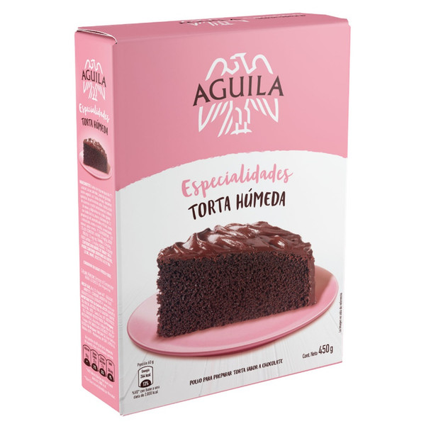 Águila Torta Húmeda Bizcochuelo Chocolate Powder Ready To Make Sponge Cake, 450 g / 15.87 oz