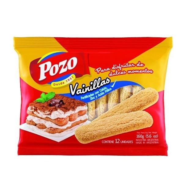 Pozo Vainillas Galletitas Soft Sprinkled Sugar Cookies Vanilla Flavor Classic Argentinian Vintage Cookies, 160 g / 5.6 oz (pack of 3)