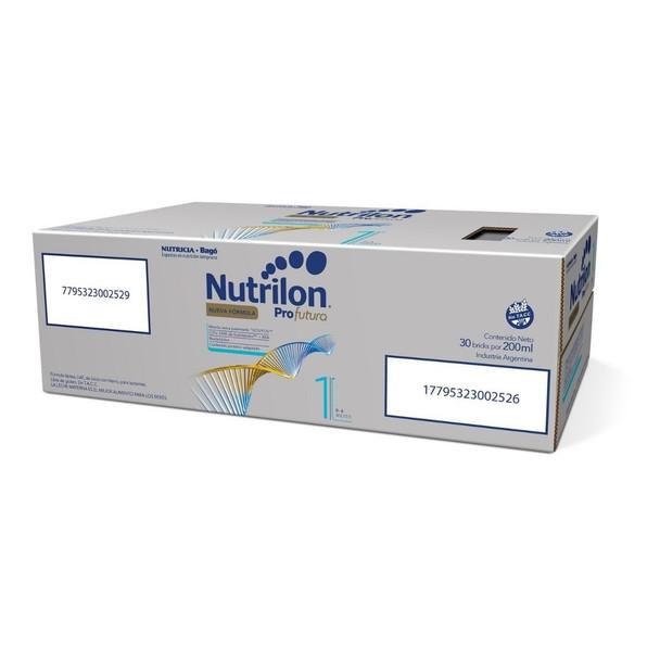 Nutrilon ProFutura 1 Baby Formula Ready to Feed Baby Formula Milk 0-6 Months Saver Box, 200 ml / 7.05 oz Liquid Tetra-Brick (30 count per box)