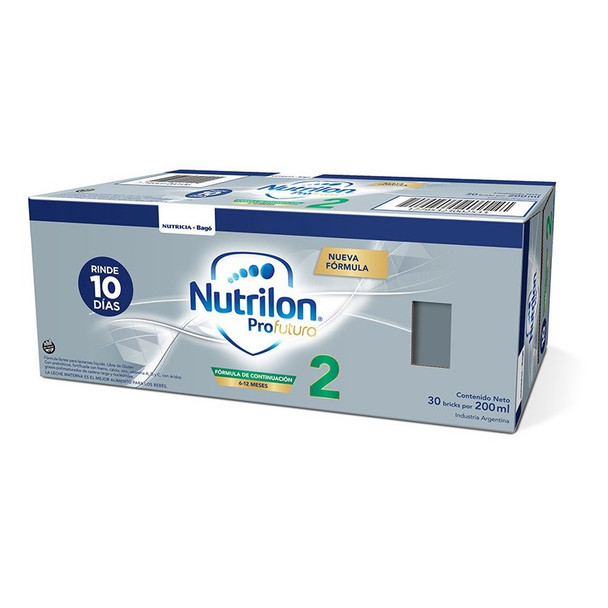 Nutrilon ProFutura 2 Baby Formula Ready to Feed Baby Formula Milk 6-12 Months Saver Box, 200 ml / 7.05 oz Liquid Tetra-Brick (30 count per box)