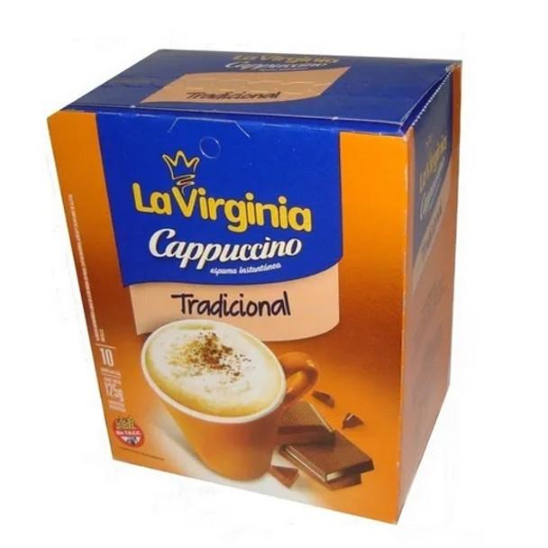La Virginia Traditional Cappuccino Coffee in Tea Bags Easy Ready to Brew, 10 bags per 125 g / 4.4 oz box