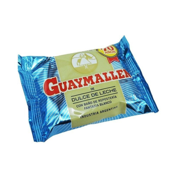 Guaymallen Alfajor White Chocolate with Dulce de Leche Complete Wholesale Box, 38 g / 1.3 oz ea (40 count)