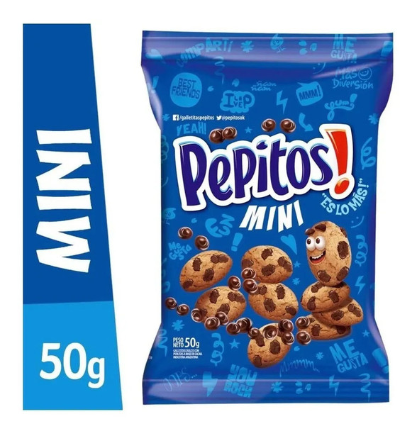Mini Pepitos Chips Ahoy! Cookies with Chocolate Chips, 50 g / 1.76 oz (pack of 3)