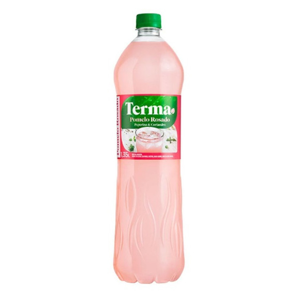 Terma Pomelo Rosado Peperina & Coriandro Bitter Refreshing Drink With Herbs Pink Grapefruit Flavor, 1.35 l / 45.64 fl oz