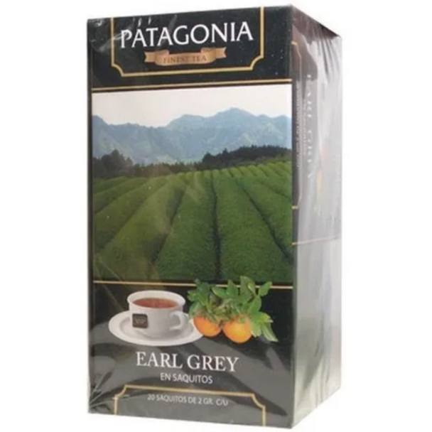 Patagonia Finest Tea Earl Grey Black Tea Flavored with Bergamot & Cloves (box of 20 bags)