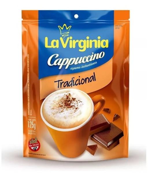 La Virginia Traditional Cappuccino Coffee Powder, 125 g / 4.40 oz pouch