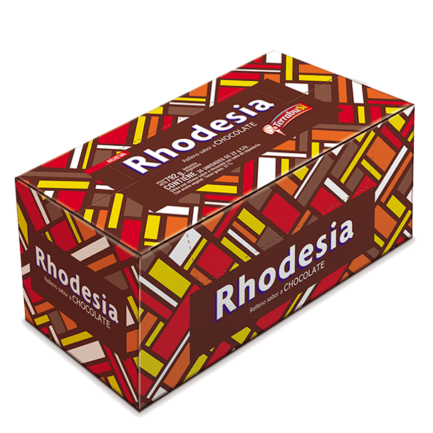 Rhodesia Chocolate Coated Cookie With Chocolate Cream Filling, 36 cookies x 22 g / 0.78 oz family box