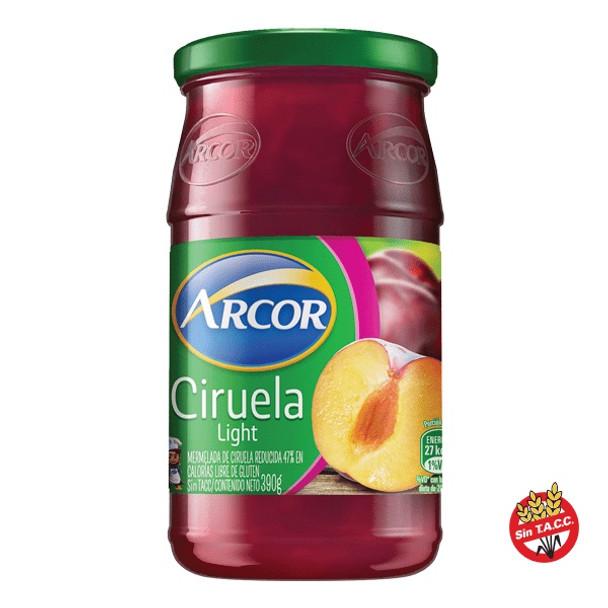 Arcor Mermelada de Ciruela Light Plum Marmalde Reduced Calories Jam, 390 g / 13.7 oz