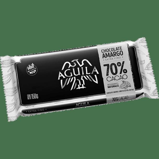Águila Bitter Dark Chocolate 70% Cacao Bar Perfect with Hot Milk Submarino/Remo, 150 g / 5.3 oz bar