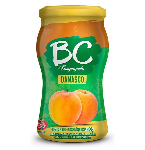 BC La Campagnola Mermelada De Damasco Light Marmalade Damascus Jam, 390 g / 13.75 oz