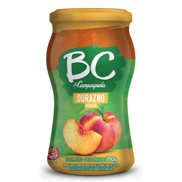 BC La Campagnola Mermelada De Durazno Light Marmalade Peach Jam, 390 g / 13.75 oz