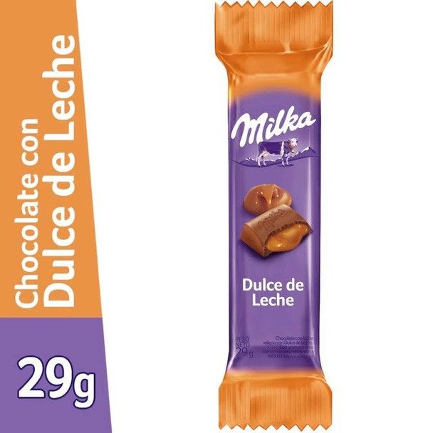 Milka Milk Chocolate Bar Filled with Dulce de Leche, 29 g / 1.02 oz (pack of 3 bars)