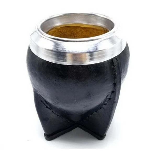 Torpedo Leather Mate Gourd Carved Calabaza, Double Reinforced Flat Base - Various Colors Available (Handmade Variations)