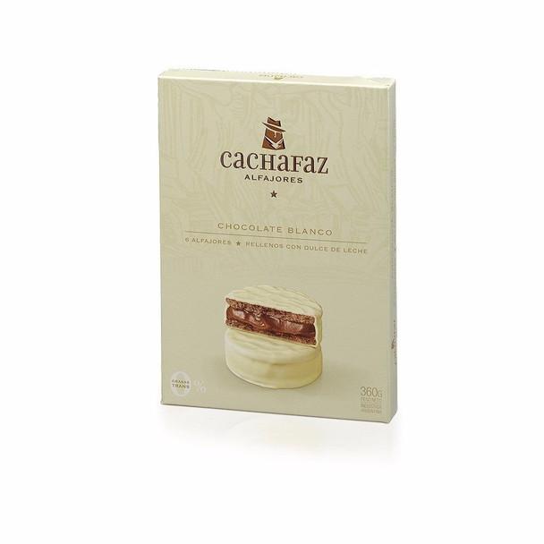 Cachafaz Alfajor White Chocolate with Dulce de Leche (box of 6)