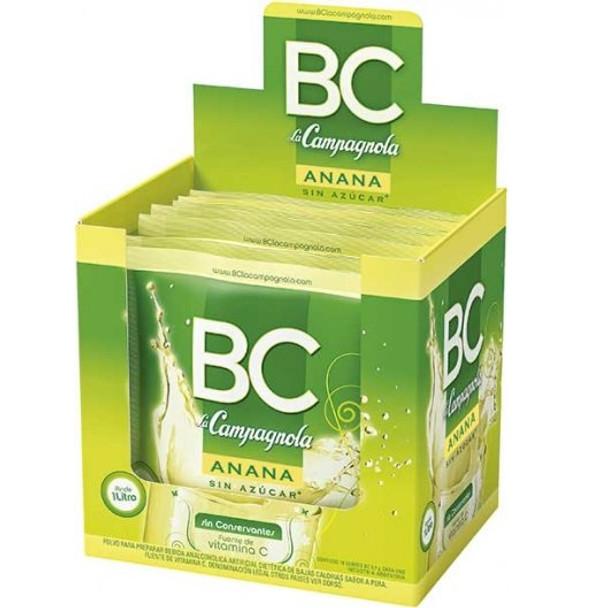BC Jugo en Polvo Ananá Powdered Juice Pineapple Flavor - Sugar Free & Low Sodium, 9.3 g / 0.32 oz pouch (box of 18)