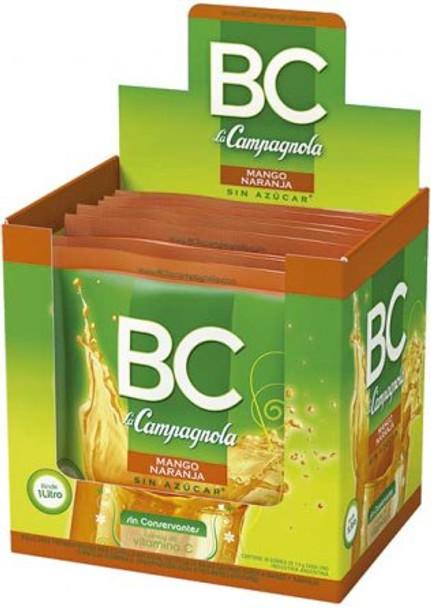 BC Jugo en Polvo Mango-Naranja Powdered Juice Orange & Passion Fruit Flavor - Sugar Free & Low Sodium, 7.9 g / 0.27 oz pouch (box of 18)