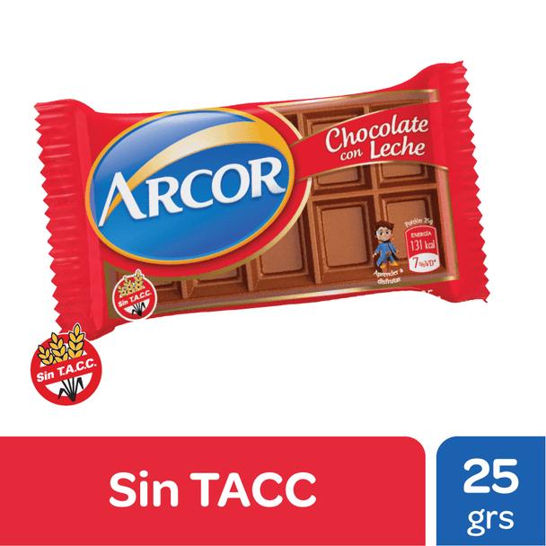 Arcor Chocolate Con Leche Classic Mini Milk Chocolate Bars - Gluten Free, 25 g / 0.88 oz (pack of 3)