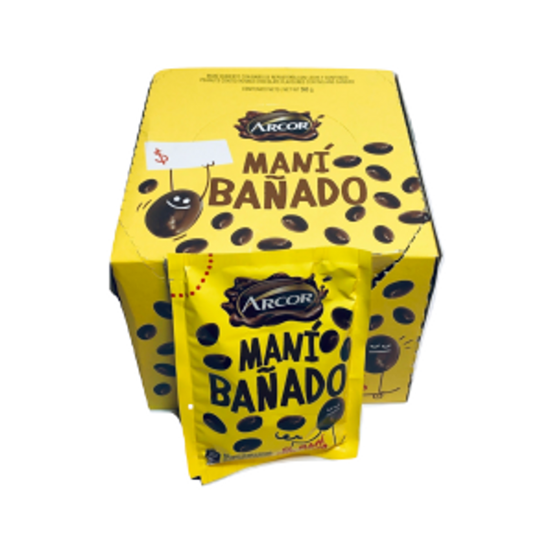 Arcor Maní Bañado Milk Chocolate Covered Peanuts, 35 g / 1.23 oz (box of 16)