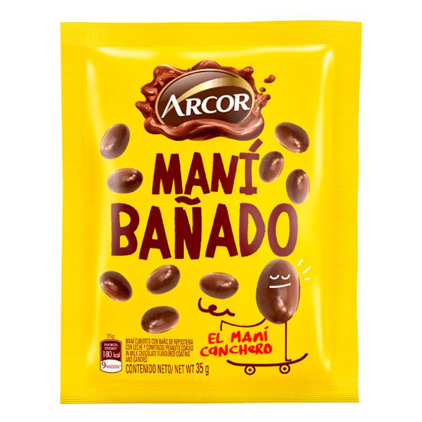 Arcor Maní Bañado Milk Chocolate Covered Peanuts, 35 g / 1.23 oz (pack of 3)