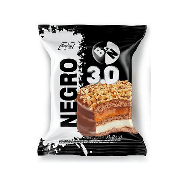 Blanco y Negro Triple Alfajor Milk Chocolate with Dulce de Leche & Vanilla Wholesale Bulk Box, 73.5 g / 2.6 oz (21 count per box)