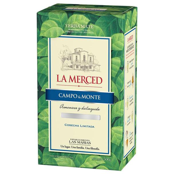 La Merced Yerba Mate Campo & Monte Classic Wholesale Bulk Box, 500 g / 1.1 lb (box of 6)