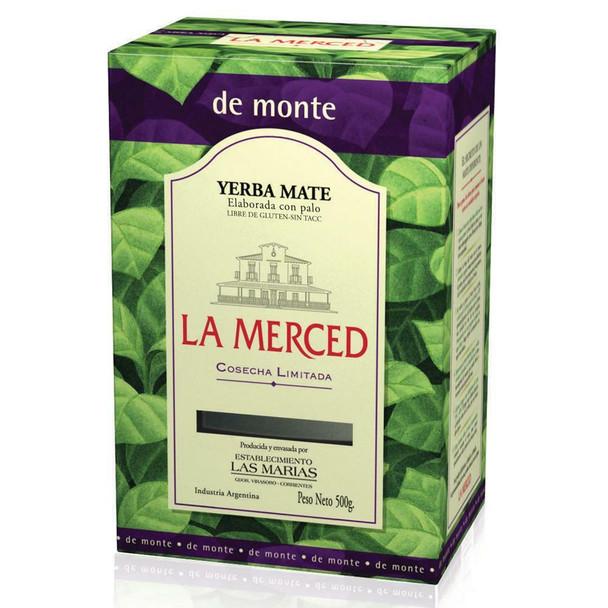 La Merced Yerba Mate Monte Wholesale Bulk Box, 500 g / 1.1 lb (box of 6)