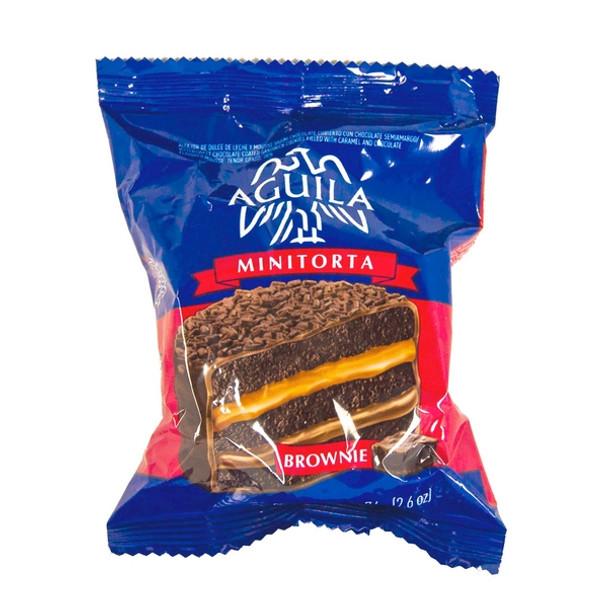 Águila Alfajor Brownie Minicake with Dulce de Leche Wholesale Bulk Box, 72 g / 2.5 oz (21 count per box)