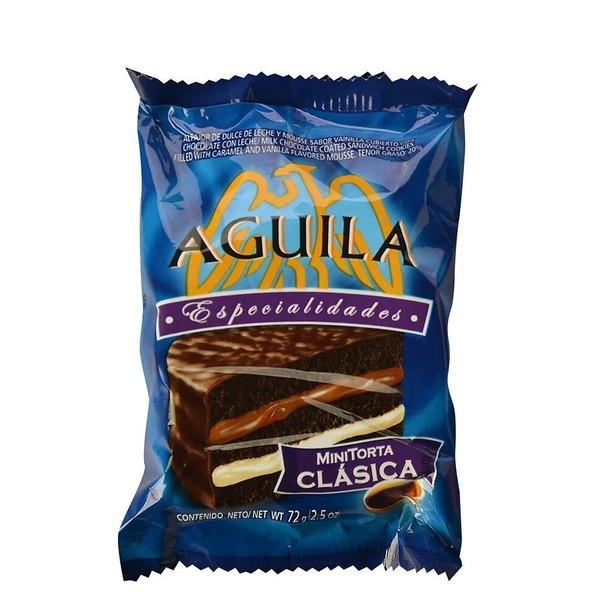 Águila Alfajor Classic Minicake with Dulce de Leche and Cream Wholesale Bulk Box, 72 g / 2.5 oz (21 count per box)