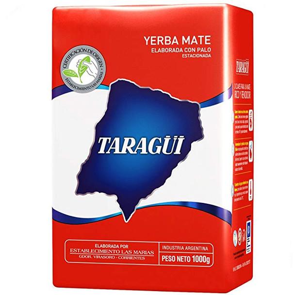 Taragüi Yerba Mate Classic Flavor Con Palo (with Stems) from Las Marías (1 kg / 2.2 lb)