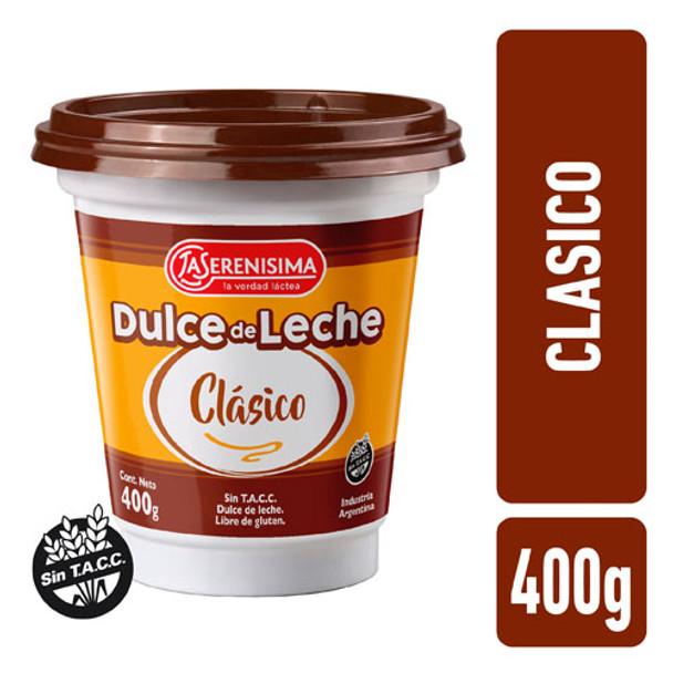 Dulce de leche clasico La Serenisima 400g, classic dulce de leche