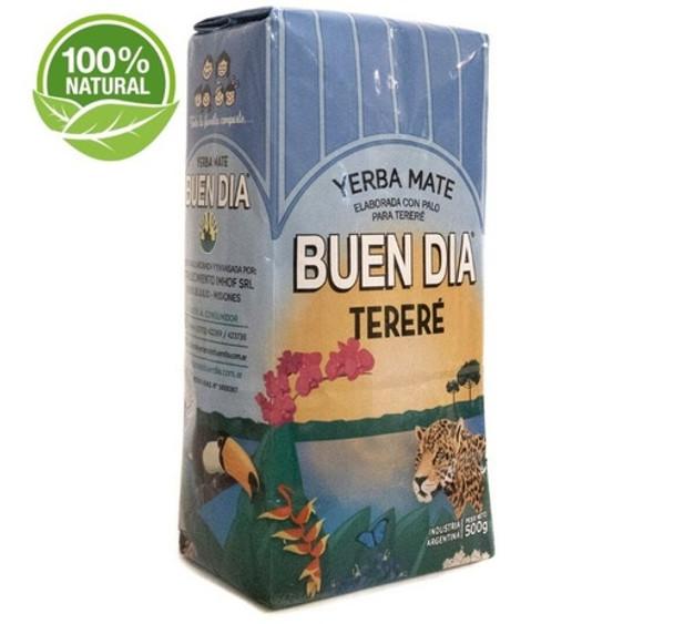 """Buen Día Yerba Mate Tereré Elaborada con Palo Yerba Mate Perfect for Classic """"Tereré"""", 500 g / 1.1 lb"""
