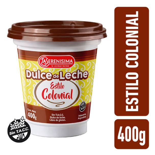 La Serenísima Dulce de Leche Colonial Thicker Traditional Recipe (400 g / 14.1 oz)