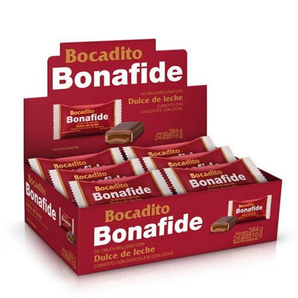 Bonafide Dulce de Leche Bocadito Bite Traditional Bombón for Sharing (box of 24)
