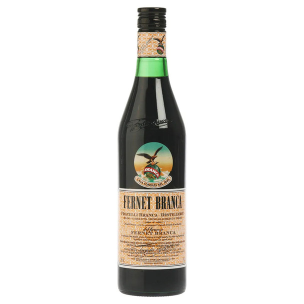 Fernet Branca Bitter Amaro Herbal Infusion Liqueur Genuine Argentina Flavor Recipe - ABV 39% (750 ml / 25.4 oz)