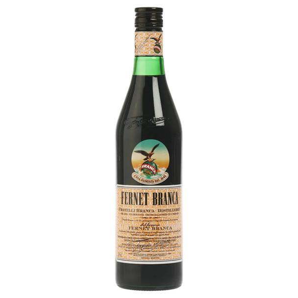 Fernet Branca Bitter Amaro Herbal Infusion Liqueur Genuine Argentina Flavor Recipe - ABV 39% (750 ml / 25.4 oz)
