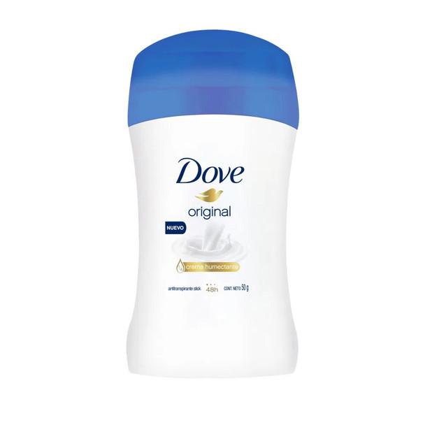 Dove Original Antiperspirant with Moisturizer Cream Deodorant Stick 48 Hour Protection, 50 g / 1.76 oz