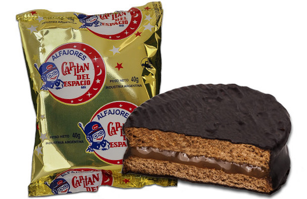 Capitán del Espacio Alfajor with Dulce de Leche Rare Difficult to Find (pack of 6)
