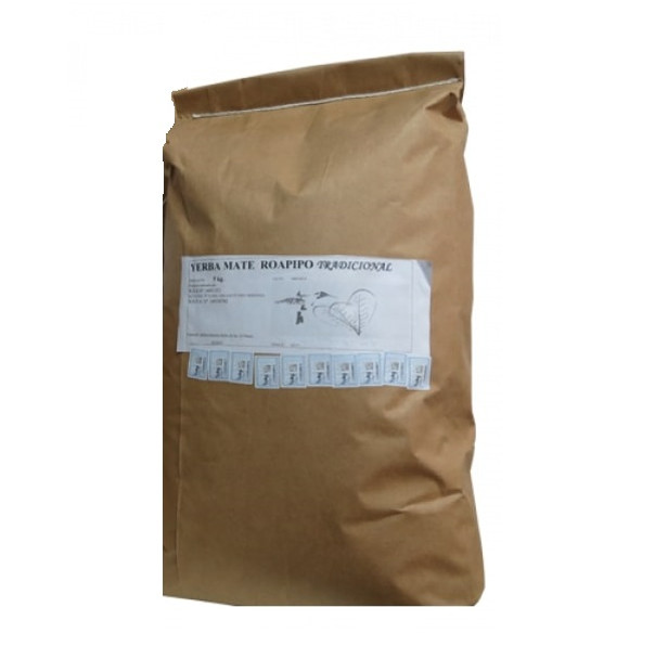 Roapipó Organic Yerba Mate Tradicional, 5 kg / 11.02 lb large bag