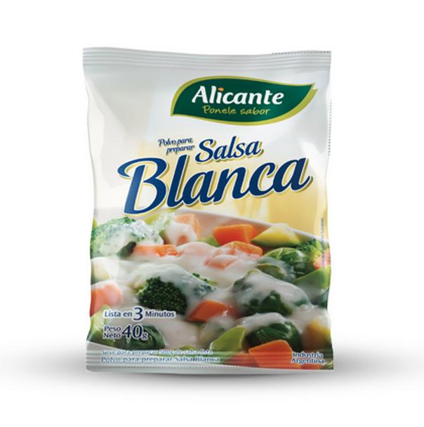 Alicante Salsa Blanca En Polvo Bechamel Sauce Flavored Powder, 40 g / 1.41 oz