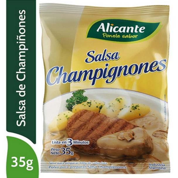 Alicante Salsa Champignones En Polvo Champignon Sauce Flavored Powder, 35 g / 1.24 oz
